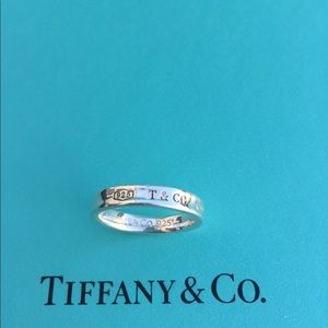 """Tiffany & Co """"T&Co"""" sterling silver ring"""